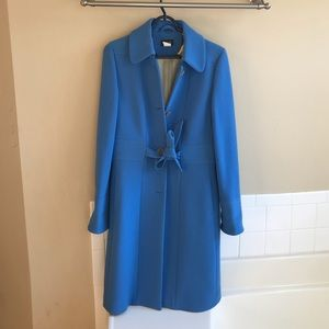 Gorgeous sophisticated JCrew Baltic blue long coat